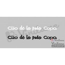Pegatina Clio Cup (de la...