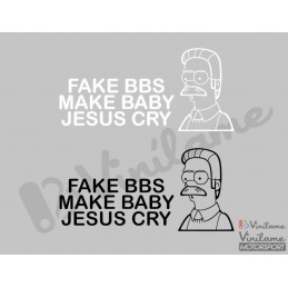 Pegatina Fake BBS Make Baby...