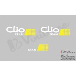 Kit Pegatinas Clio Team