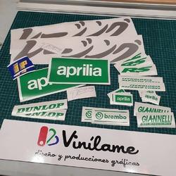 Kit pegatinas para Aprilia RS125 😍  #vinilame #aprilia #apriliars125 #2stroke