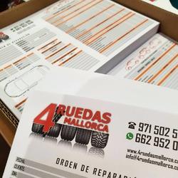 Imprenta digital 📄 Diseño e impresión de ordenes de reparaciones para nuestros amigos de @4ruedasmallorca  #vinilame #imprentadigital #ordendereparación