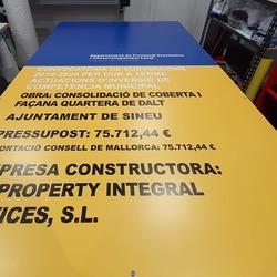 Carteleria de obra  #vinilame #panelobra #carteleriaobra #cartelesdeobra