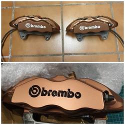 Logo @brembobrake color negro de estas preciosas pinzas para un Leon Cupra 👌  #vinilame #pegatinaspersonalizadas #brembo #brembobrakes #leoncupra
