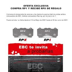 EBC BRAKES te invita a probar sus compuestos para Competición/Trackday RP-1 y RP-X con una promoción que no puedes dejar escapar 🤪  Consigue 2 kits de pastillas de EBC Brakes Racing por el precio de solo 1 solo juego de pastillas, si compras cualquier juego de pastillas de freno RP-1™ entre el 14 de mayo y el 30 de junio de 2021 te enviaremos el juego correspondiente RP-X™ completamente gratis.  #vinilamemotorsport #vinilame #ebcbrakes #ebcrp1 #ebcrpx #ebcfrenos