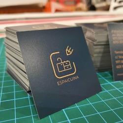 Tarjetas de visita cuadradas para @espaicuina 😍👌  #vinilame #tarjetasdevisita #espaicuina
